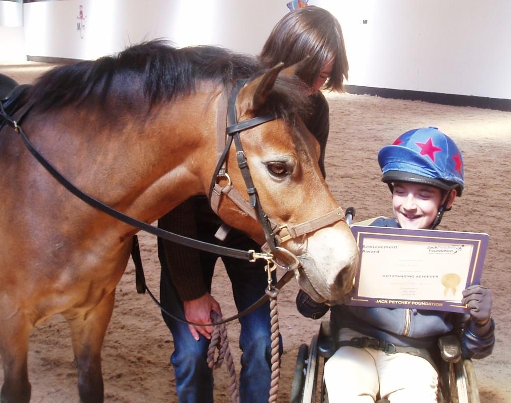 Tawny celebrating rider's success
