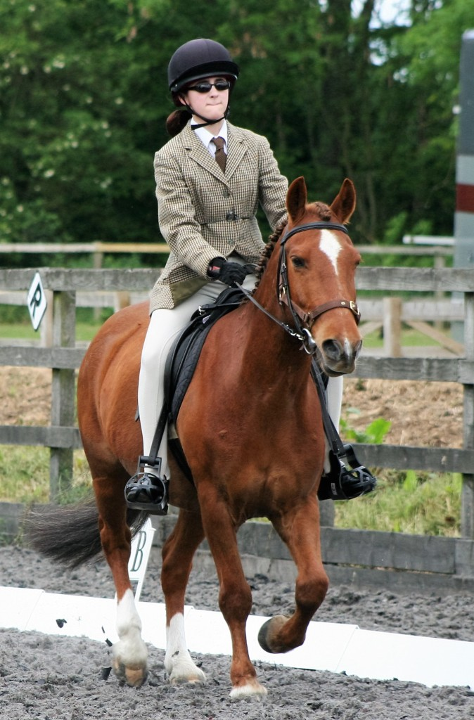 Starra and Lucy doing dressage