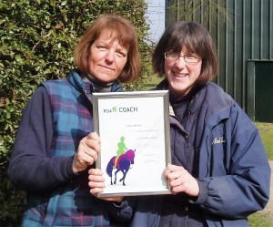Clare and Sally Coaching Certificate