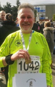 John after the half marathon