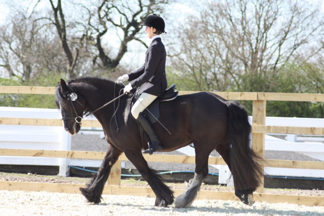 Clare and Lula dressage
