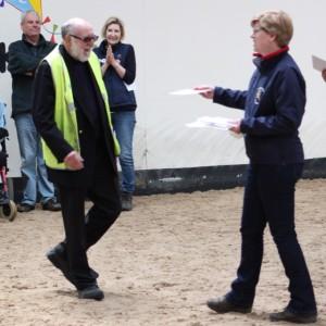John receiving long service certificate