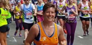 Jamie running in the London Marathon
