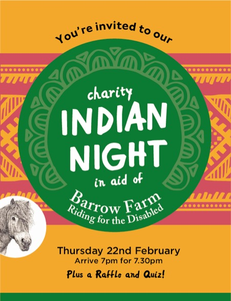 Invitation to charity Indian night