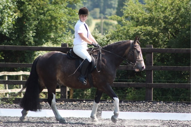Holly and Dusty in their dressage test