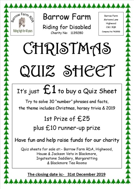 Christmas Quiz Sheet